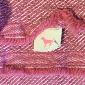 PINK Victoria's Secret Other - Victoria Secret Cotton Throw Beach Blanket Fringe